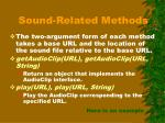 sound related methods