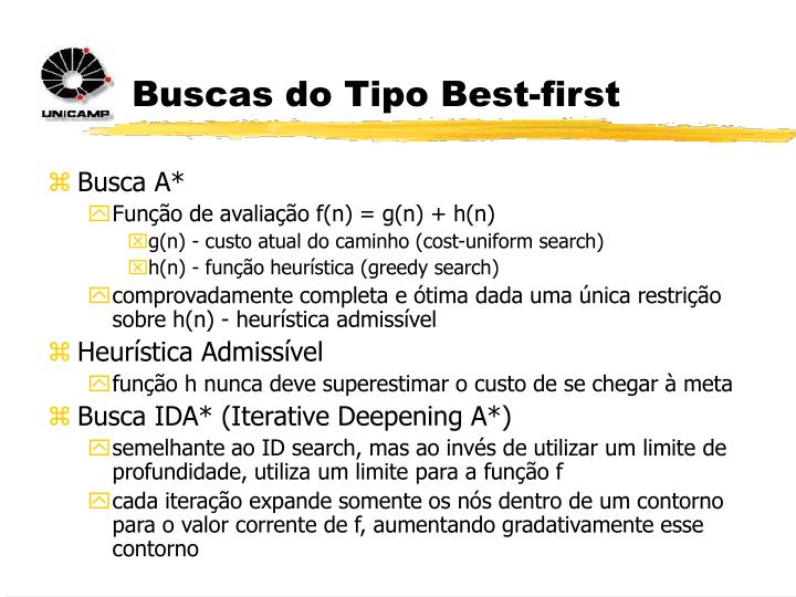 Buscas do Tipo Best-first