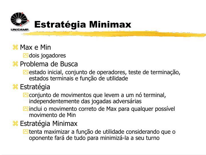 Estratégia Minimax