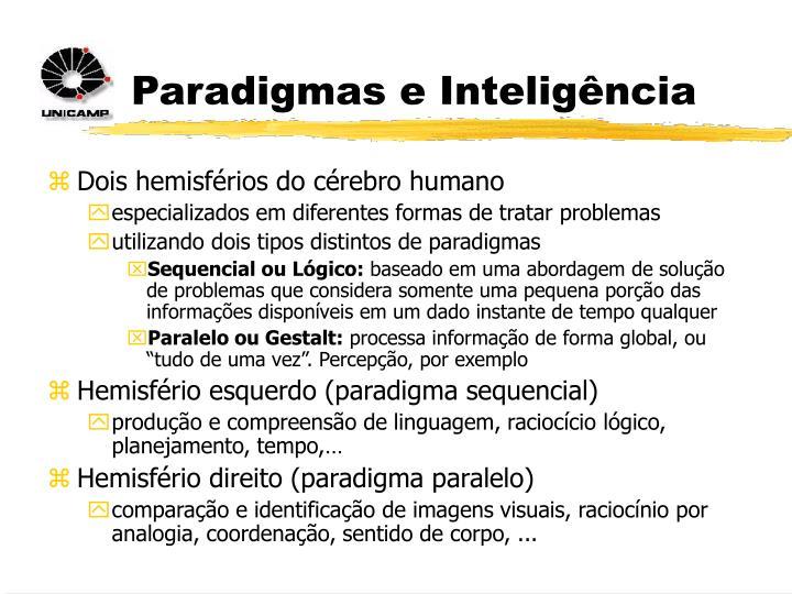 Paradigmas e Inteligência