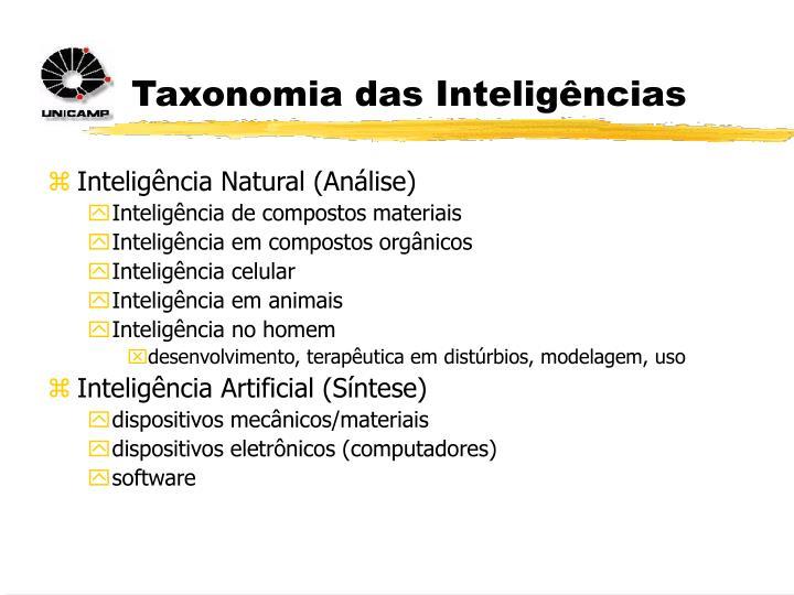 Taxonomia das Inteligências