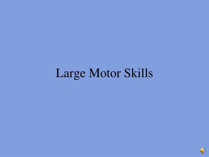 Large Motor Skills