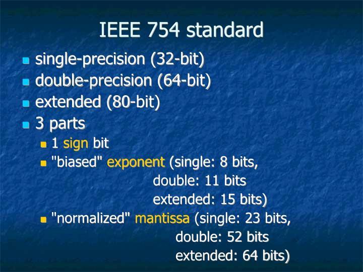 IEEE 754 standard