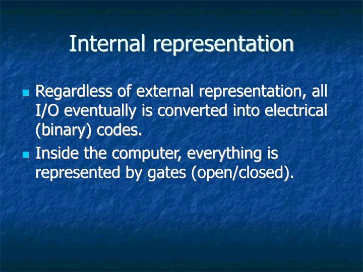 Internal representation