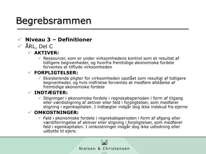 Niveau 3 – Definitioner