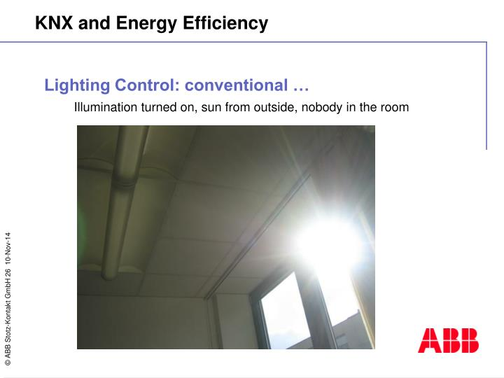 Lighting Control: conventional …