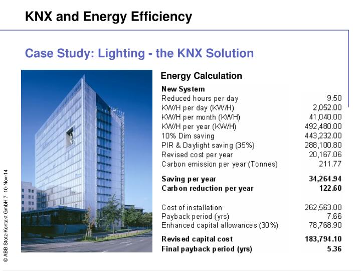 Case Study: Lighting - the KNX Solution