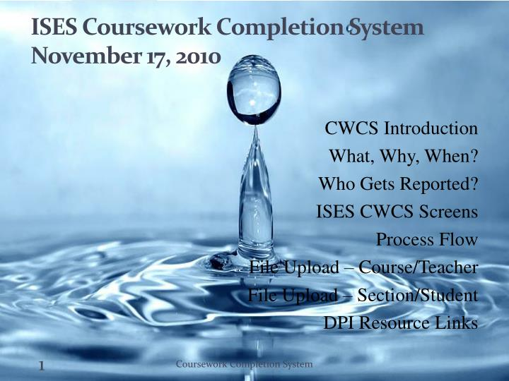 wisconsin coursework completion system Students must earn a c or above in all formal coursework completion of program to be done within ©2018 board of regents of the university of wisconsin system.