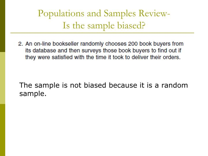 Populations and Samples Review-