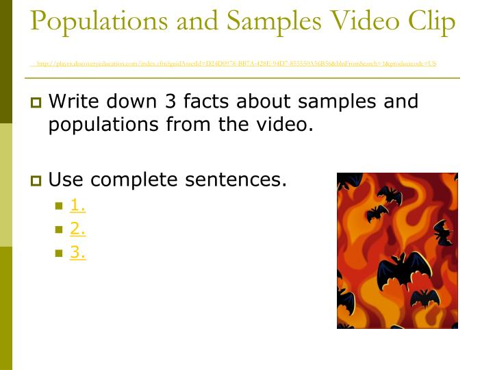 Populations and Samples Video Clip