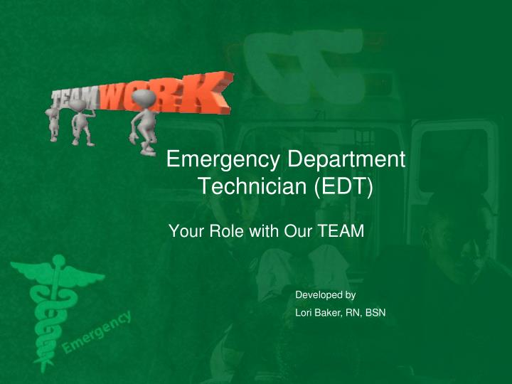 emergency department technician edt