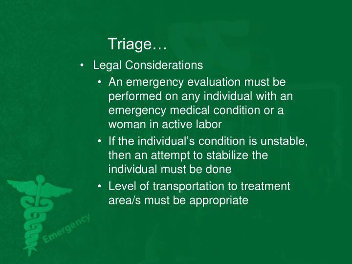 Triage…