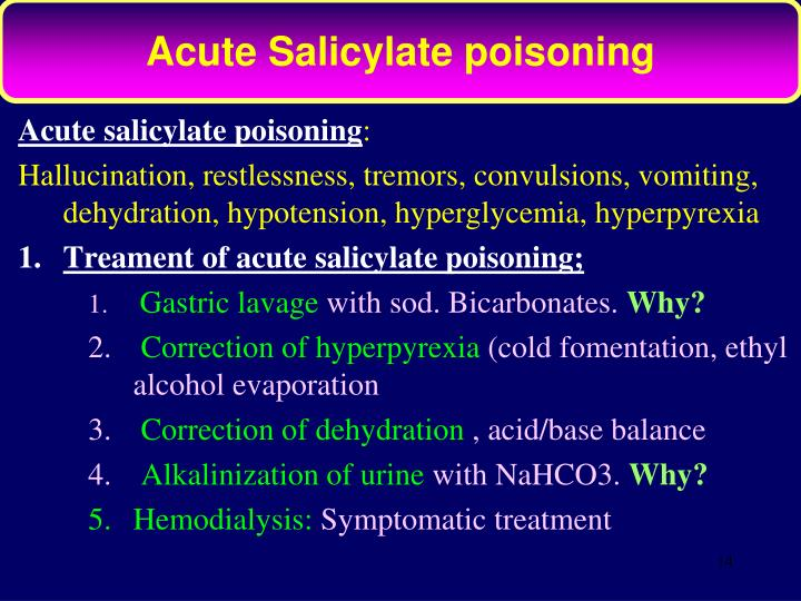 Acute Salicylate poisoning