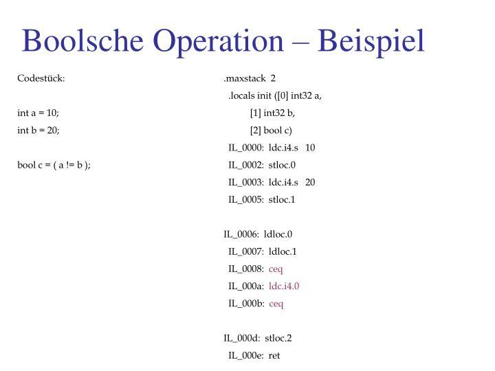 Boolsche Operation – Beispiel