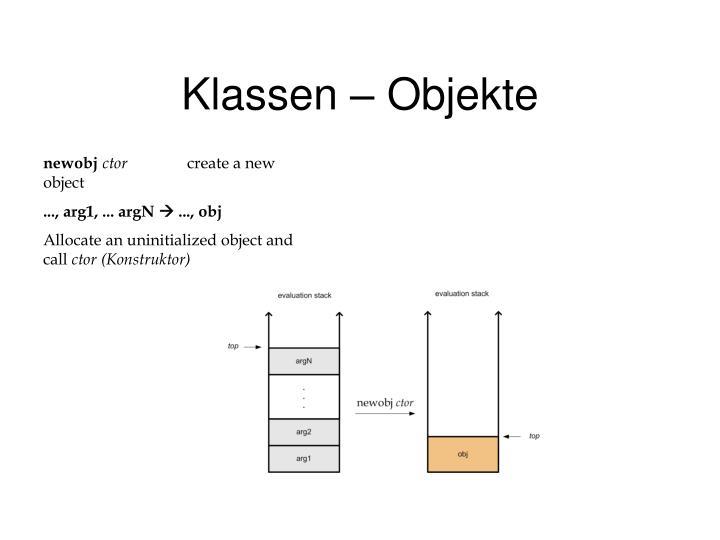 Klassen – Objekte