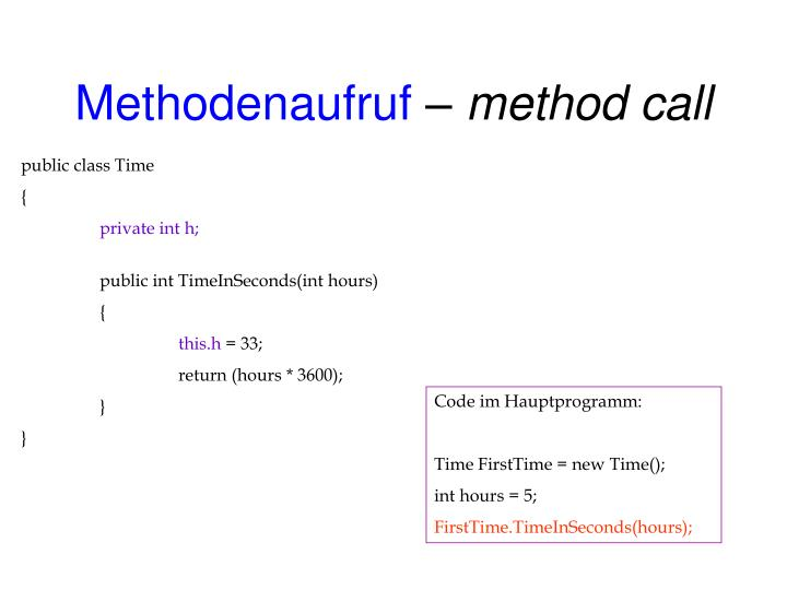 Methodenaufruf