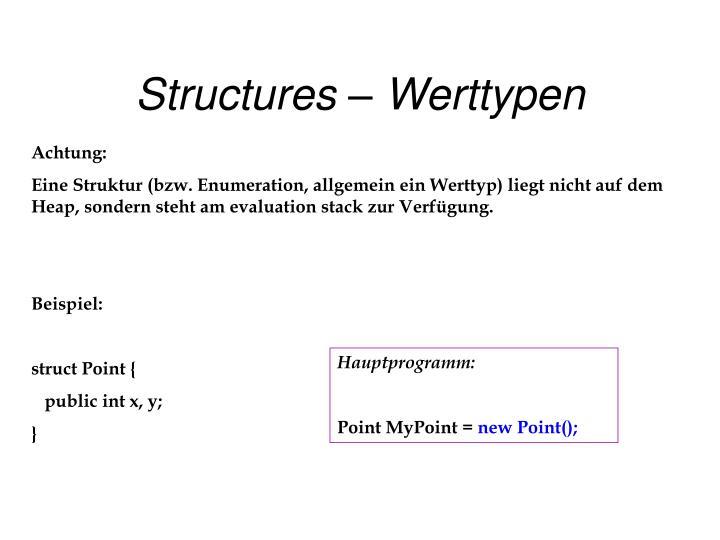 Structures – Werttypen