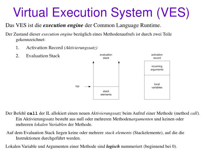 Virtual Execution System (VES)