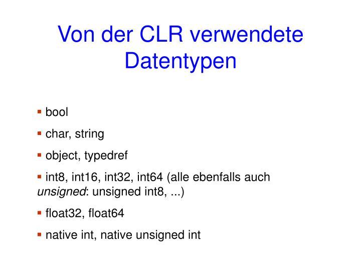 Von der CLR verwendete Datentypen