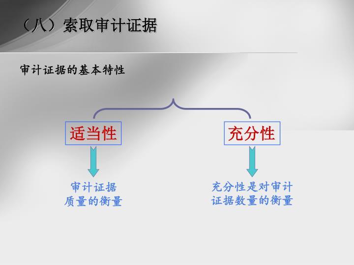 (八)索取审计证据