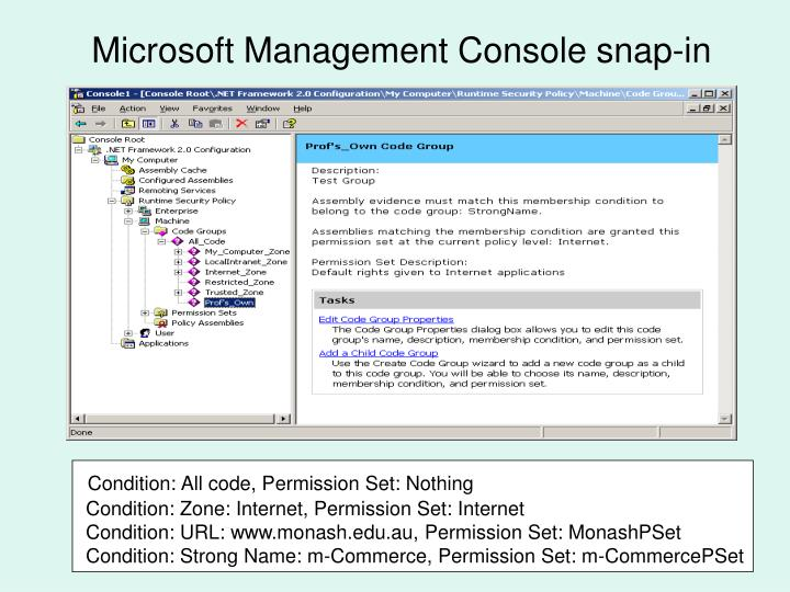 Microsoft Management Console snap-in