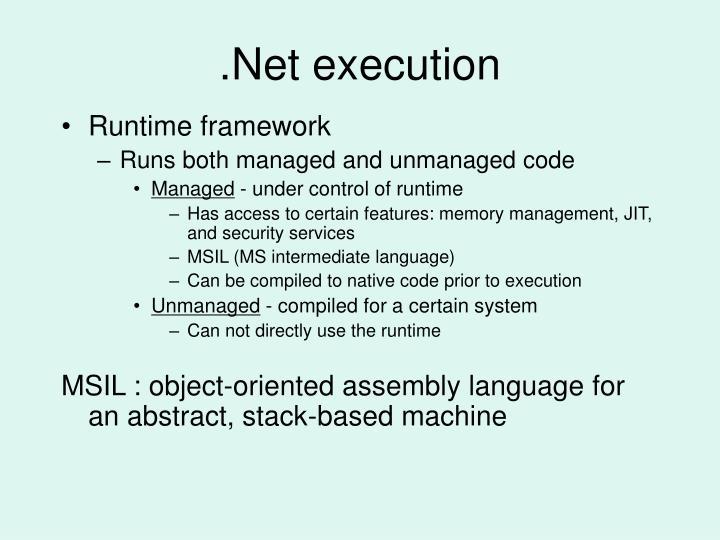 .Net execution