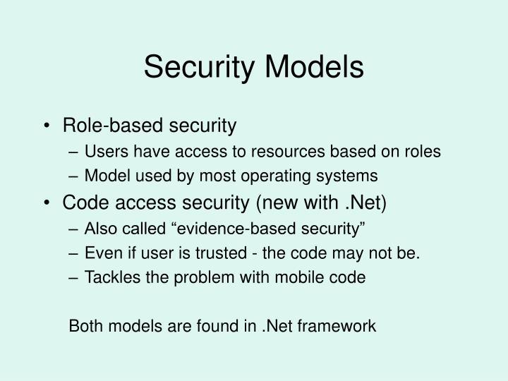 Security Models