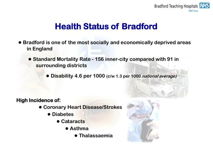 Health Status of Bradford