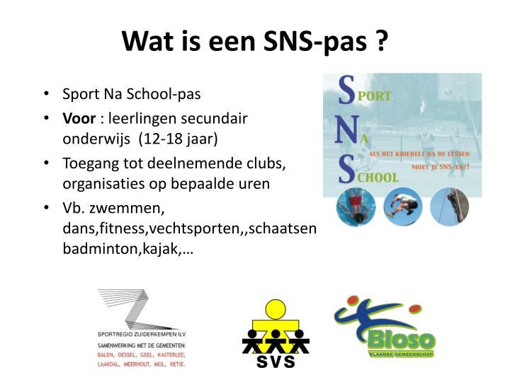 Wat is een SNS-pas ?
