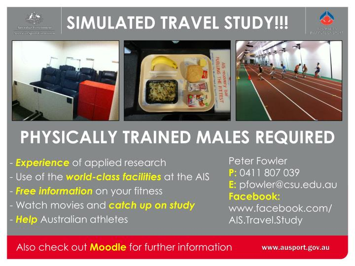 SIMULATED TRAVEL STUDY!!!