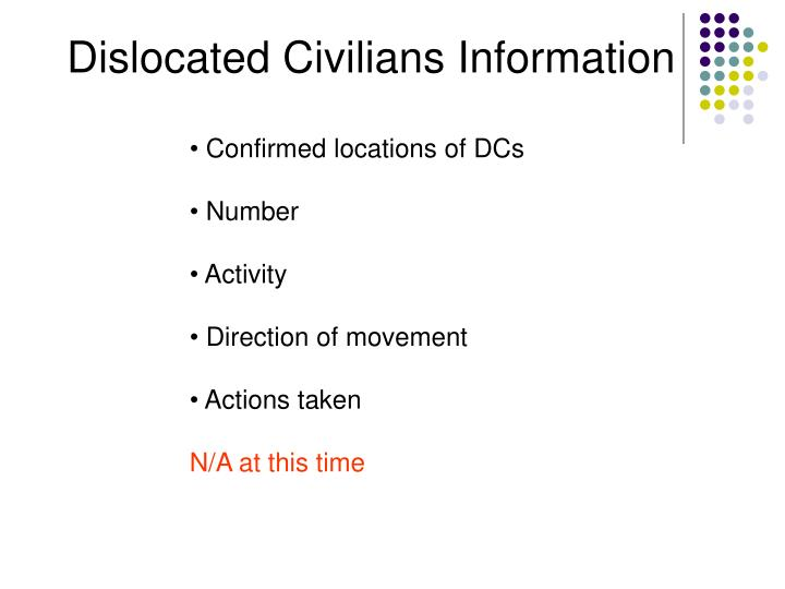 Dislocated Civilians Information