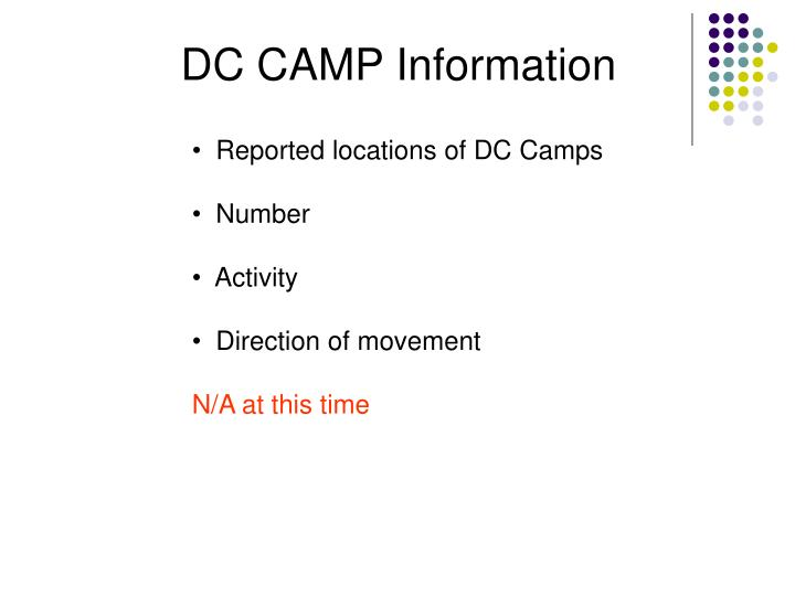 DC CAMP Information
