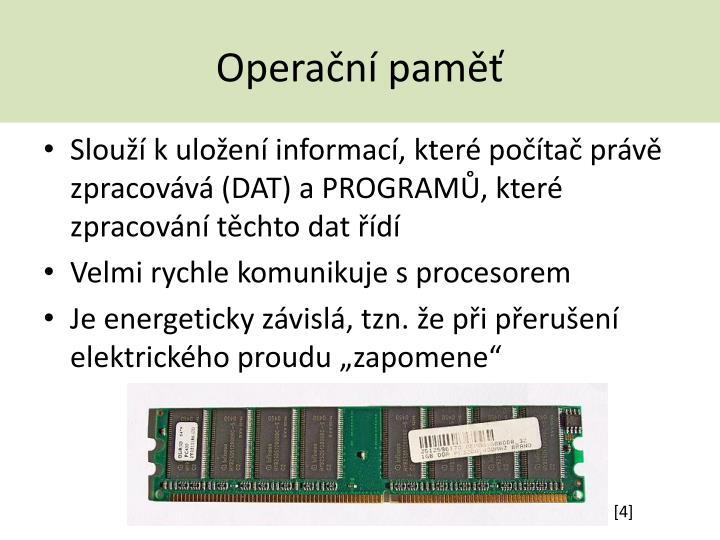 Operační paměť