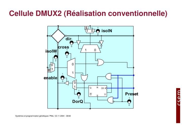 Cellule DMUX2 (Réalisation conventionnelle)