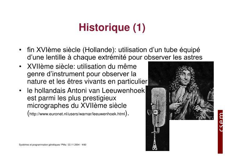 Historique (1)