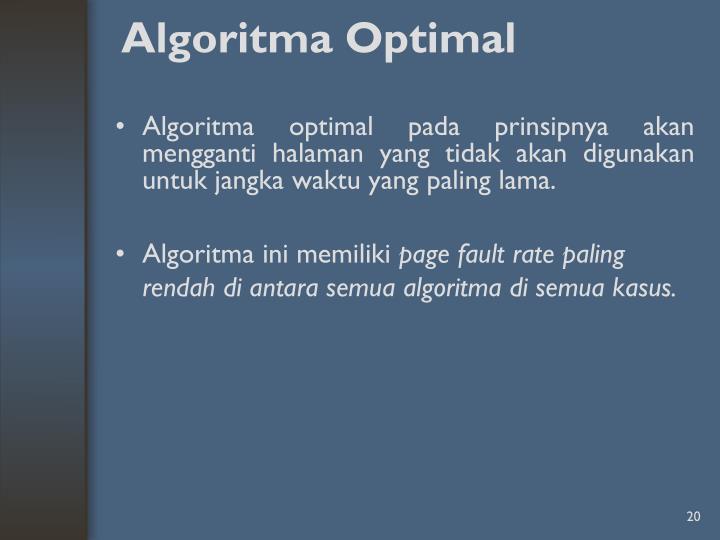 Algoritma Optimal