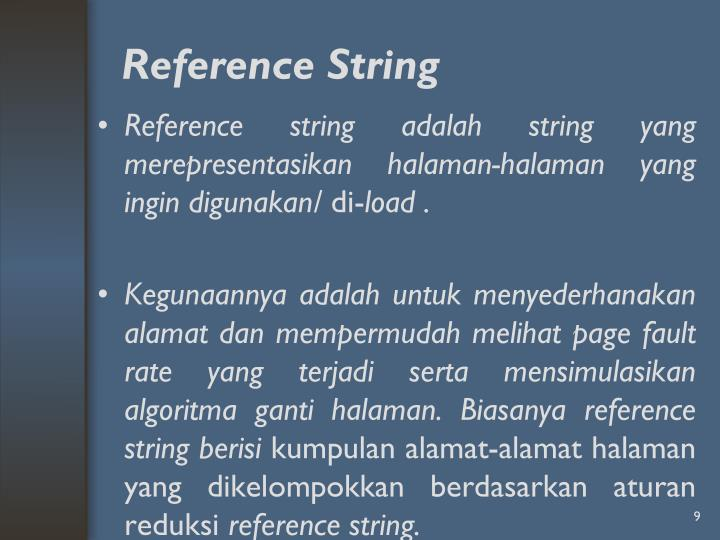 Reference String