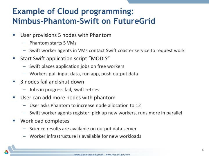 Example of Cloud programming: