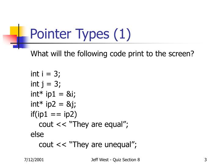 Pointer types 1