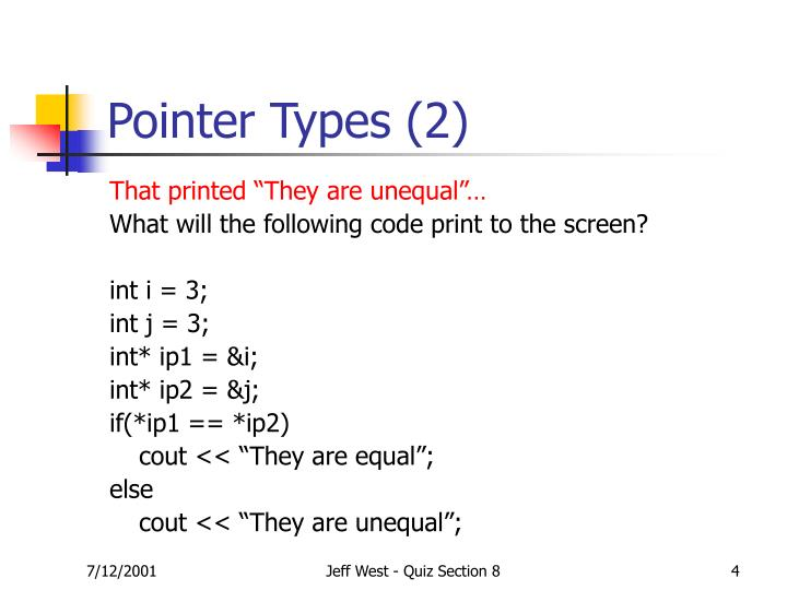Pointer Types (2)