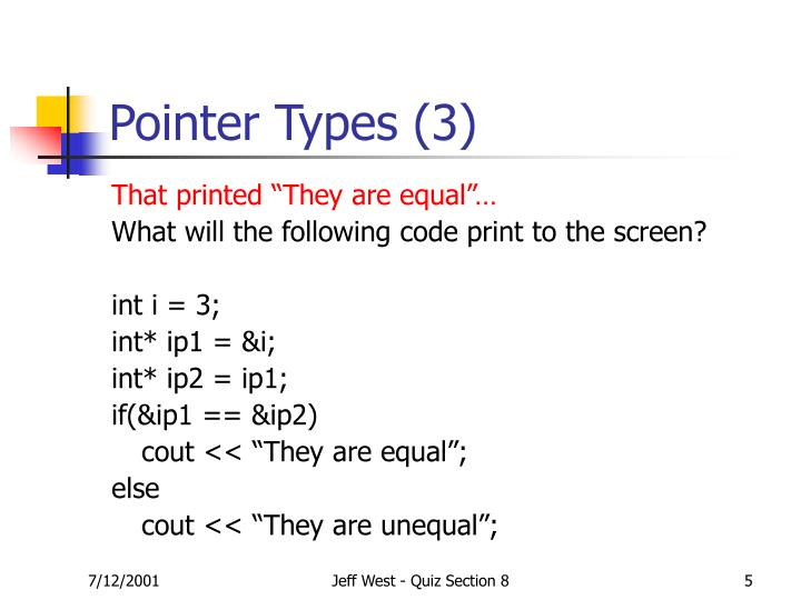 Pointer Types (3)