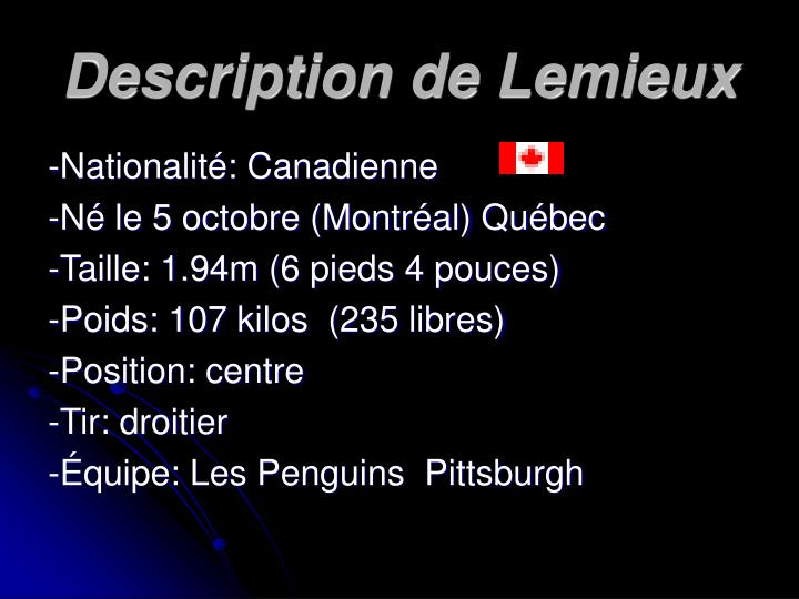 Description de Lemieux