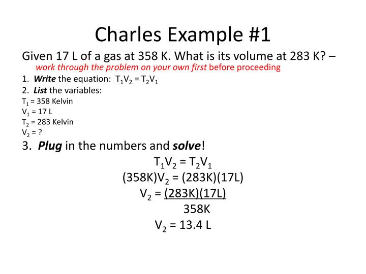 Charles Example #1