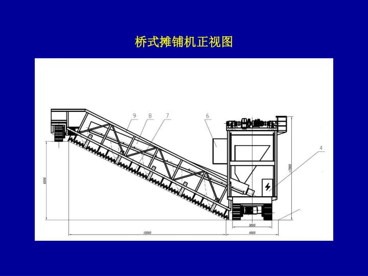 桥式摊铺机正视图