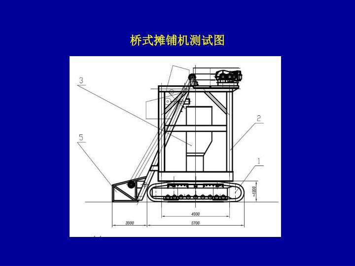 桥式摊铺机测试图