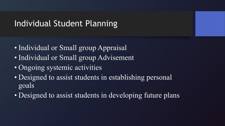 Individual Student Planning