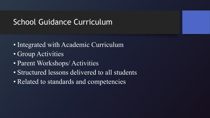 School Guidance Curriculum