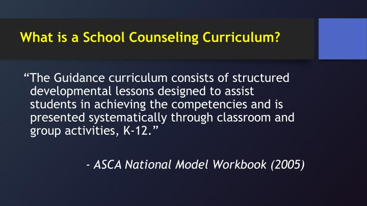 What is a School Counseling Curriculum?