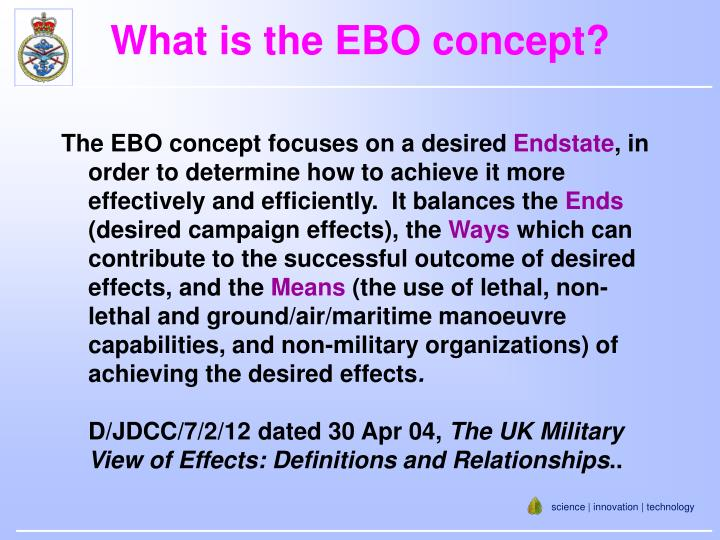 What is the EBO concept?