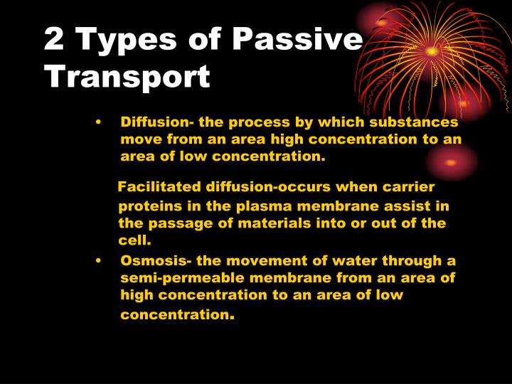 2 Types of Passive Transport